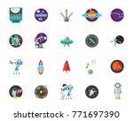 astronomy icon set   Shutterstock .eps vector #771697390