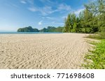 beautiful beach scenery with... | Shutterstock . vector #771698608