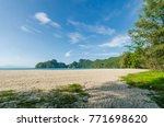 beautiful beach scenery with... | Shutterstock . vector #771698620