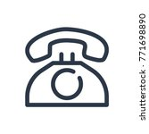telephone icon. isolated phone...