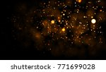 gold abstract bokeh background. ... | Shutterstock . vector #771699028