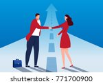 successful business cooperation | Shutterstock .eps vector #771700900