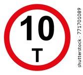 Traffic Sign Prohibiting Heavy...