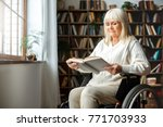 senior woman with disability...   Shutterstock . vector #771703933