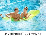 young couple active leisure... | Shutterstock . vector #771704344