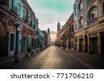 the sun rising over puebla ... | Shutterstock . vector #771706210