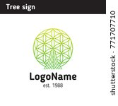 sign tree  application area... | Shutterstock .eps vector #771707710
