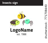 logo with insects  beetle  bee  ...   Shutterstock .eps vector #771708640