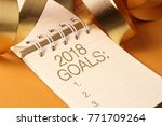 goals 2018 list with decoration.... | Shutterstock . vector #771709264