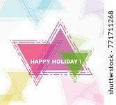 happy holiday  beautiful... | Shutterstock .eps vector #771711268