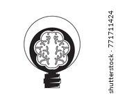 human brain in lightbulb | Shutterstock .eps vector #771711424