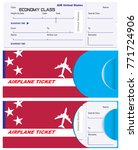 ticket of economy class with a... | Shutterstock .eps vector #771724906