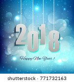 modern new year 2018 background | Shutterstock .eps vector #771732163