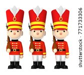 toy soldiers   3d illustration | Shutterstock . vector #771733306