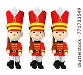 toy soldiers   3d illustration | Shutterstock . vector #771733549