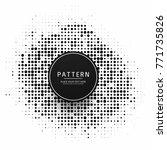 modern halftone background | Shutterstock .eps vector #771735826