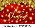 merry christmas party... | Shutterstock .eps vector #771737986