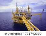industrial offshore oil and gas ... | Shutterstock . vector #771742330