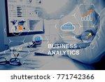 business analytics  ba ...   Shutterstock . vector #771742366