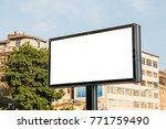 an empty billboard for outdoor... | Shutterstock . vector #771759490