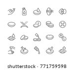 simple set of eye lens related... | Shutterstock .eps vector #771759598