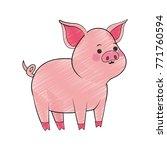 pig cute cartoon | Shutterstock .eps vector #771760594
