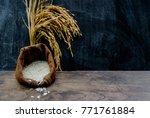 thailand rice on wooden table ... | Shutterstock . vector #771761884