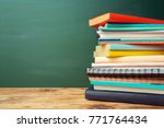 classroom with blackboard ... | Shutterstock . vector #771764434