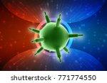 3d rendering viruses in... | Shutterstock . vector #771774550