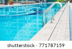 swimming pool in a chinese hotel | Shutterstock . vector #771787159