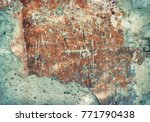 old damaged brick wall with...   Shutterstock . vector #771790438