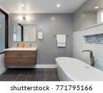 designer bathroom with glass... | Shutterstock . vector #771795166