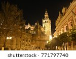 the lights of the cathedral of... | Shutterstock . vector #771797740