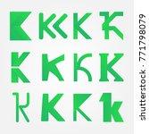 letters k for making logo | Shutterstock .eps vector #771798079