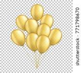gold transparent balloons ... | Shutterstock .eps vector #771798670