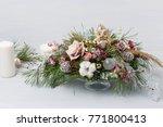decorative christmas bouquet... | Shutterstock . vector #771800413