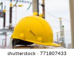 safety helmet in the workplace | Shutterstock . vector #771807433