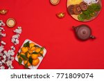 vietnamese food for vietnam tet ...   Shutterstock . vector #771809074