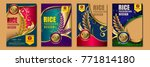 set of  rice packaging ... | Shutterstock .eps vector #771814180