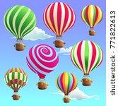 a set of air balloon. vector... | Shutterstock .eps vector #771822613
