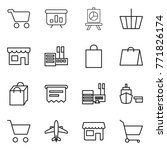 thin line icon set   cart ... | Shutterstock .eps vector #771826174