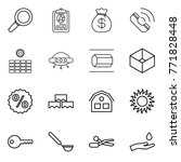 thin line icon set   magnifier  ... | Shutterstock .eps vector #771828448