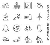 thin line icon set   bio  sun... | Shutterstock .eps vector #771828706
