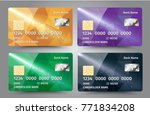 realistic detailed credit cards ... | Shutterstock .eps vector #771834208