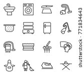 thin line icon set   sink ... | Shutterstock .eps vector #771834643