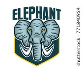 elephant logo vector mascot   Shutterstock .eps vector #771840934