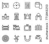 thin line icon set   shop... | Shutterstock .eps vector #771843253