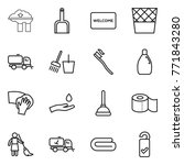 thin line icon set   factory... | Shutterstock .eps vector #771843280