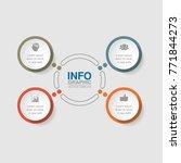 vector infographic template for ... | Shutterstock .eps vector #771844273