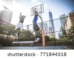 two afroamerican athlethes... | Shutterstock . vector #771844318